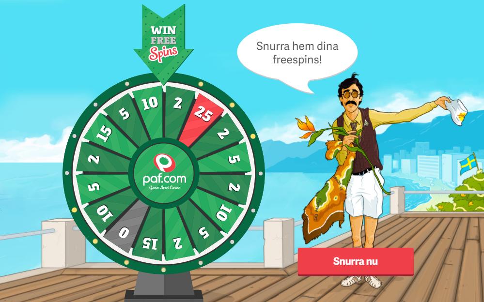 Paf free spins